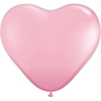 Qualatex 6 Inch Heart Shaped Latex Balloons