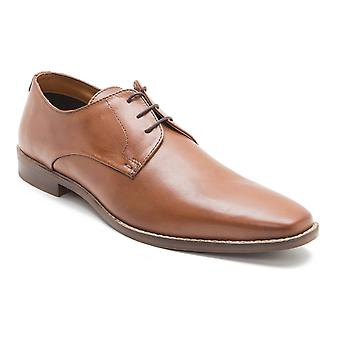Red Tape Hopton Mens Tan Brown Leather Gibson Shoes