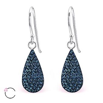 Teardrop crystal from Swarovski® - 925 Sterling Silver Earrings