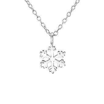 Snowflake - 925 Sterling Silver Plain Necklaces - W29888x