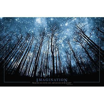 Phantasie-Bäume & Stars Poster drucken (36 x 24)