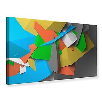 Canvas Print 3D geometrische figuren
