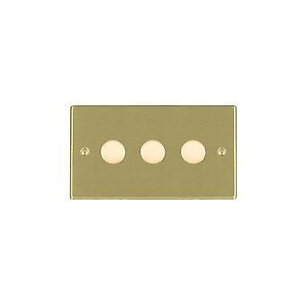 Hamilton Litestat Hartland Satin Messing 3g 100W LED Dimmer SB