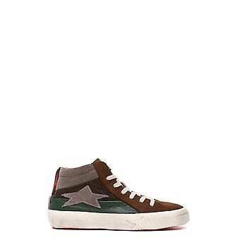 Ishikawa women's MCBI156006O brown suede leather Hi Top sneakers