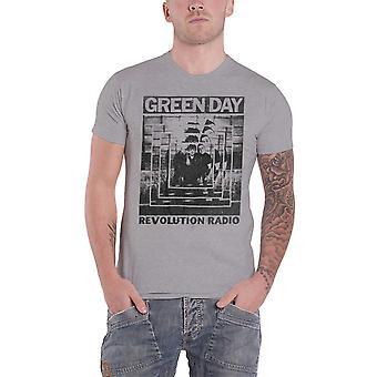 Green Day T Shirt Revolution Radio Power Shot band logo new Official Mens Grey