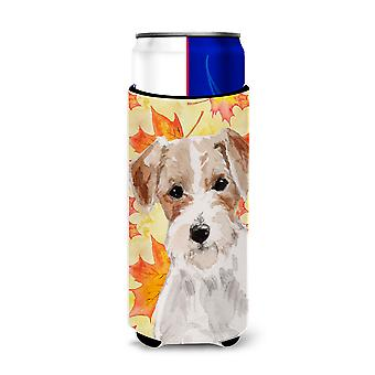 Wire Hair Jack Russell Fall Michelob Ultra Hugger for slim cans