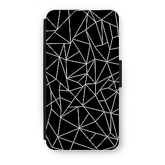 Samsung Galaxy A5 (2017) Flip Case - Geometric lines white