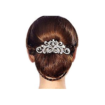 Accessory of marriage in pearls and Crystal white hair comb