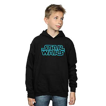 Star Wars Boys Neon Sign Logo Hoodie