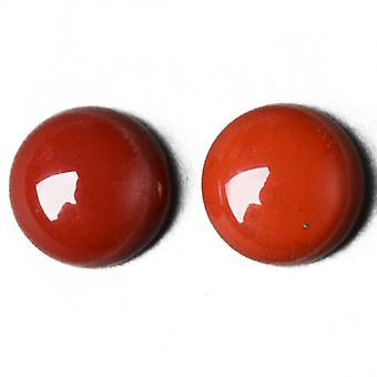 Packet 3 x Red Jasper Flat Back 12mm Coin 5mm Thick Cabochon CA16669-3