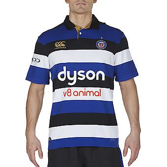 Canterbury Mens Bath Vapodri Short Sleeve Home Clas Rugby Jersey Top