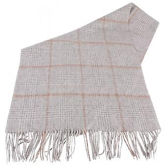Bassin and Brown Reid Large Check Wool Scarf - Grey/White