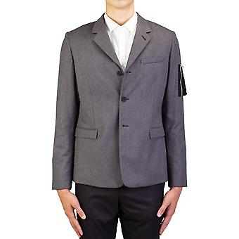 Dior Homme Men's Soft Virgin Wool Cashmere Padded Sportscoat Jacket Light Grey
