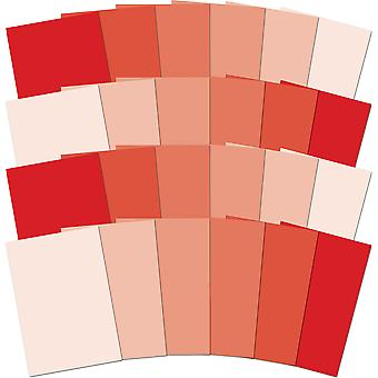 Hunkydory Adorable Scorable A4 Cardstock 24/Pkg-Red Tones AS171