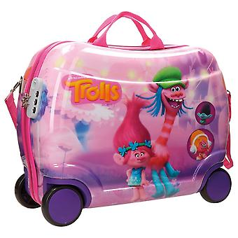 Trolls ABS rolling suitcase 4 whells