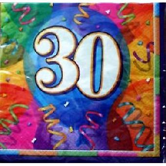 30th Birthday Brilliant Party Napkins