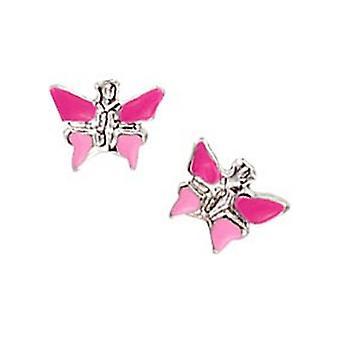 Scout los niños pendientes de plata rosa Butterfly girl 262127100