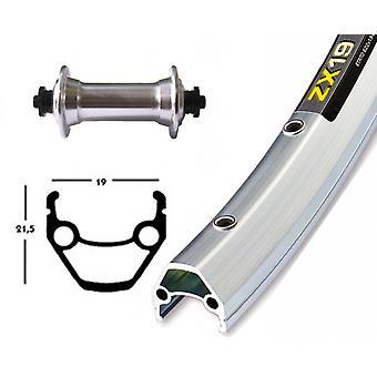 Bike parts 28″ front wheel Exal ZX 19 + Shimano tourney TX500 (QR)