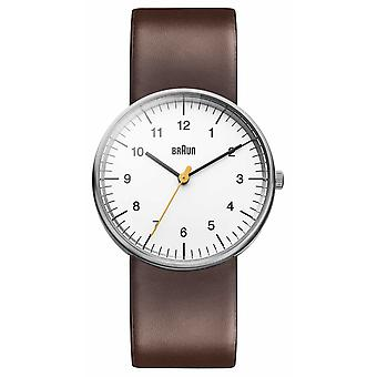 Braun Mens White Brown BN0021WHBRG Watch