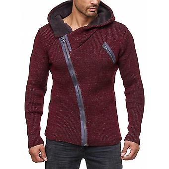 TAZZIO men's Cardigan with hood Red