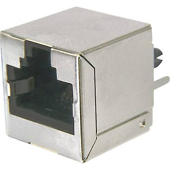 ASSMANN WSW AMJ-188-10101-CAT6 Modular Socket, RJ45, CAT 6 8 RJ45 Socket, vertical vertical Silver