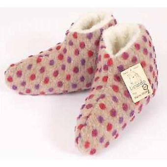 Bed shoes wool nubs beige 44/45