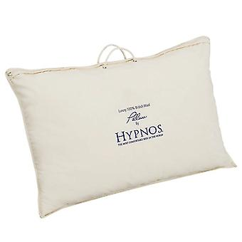 Hypnos Wool Pillow 100% Wool Filling Anti-Allergy Cotton Cover