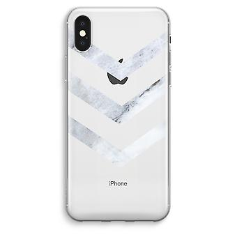iPhone XS Max Transparent Case (Soft) - Marble arrows