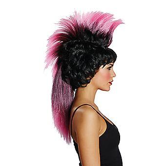 IRO wig sort / pink parykk