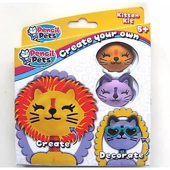 Pencil Pets - Purple & Orange Kitten Kit