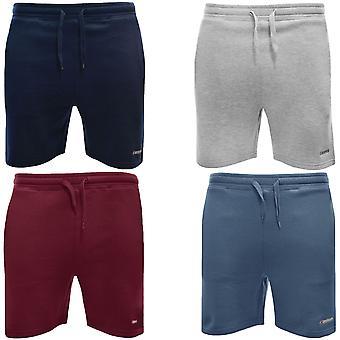 Lambretta Mens Casual Regular Fit Plain Joggen Fleece Böden Shorts