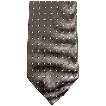 Bassin and Brown Medium Spot Silk Tie - Grey/Black