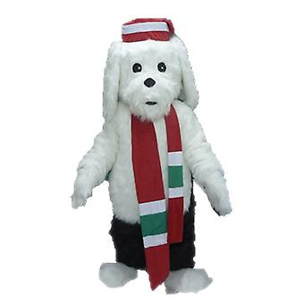 mascot dog white and black, soft and hairy SPOTSOUND