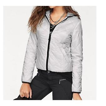 AjC slightly shining ladies Quilted Jacket grey