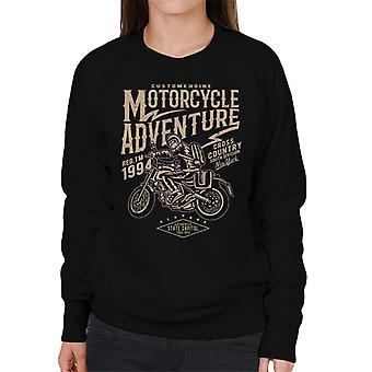 Motorsykkel eventyr 1994 krysse landsbykvinner Sweatshirt