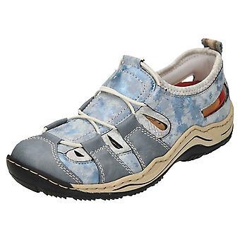 Rieker L0561-12 Rutschen auf ausgeschnittene Schuhe Trainer