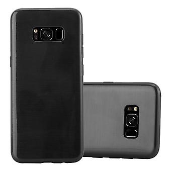 Cadorabo sleeve for Samsung Galaxy S8 - mobile cover from TPU silicone in brushed stainless steel look (brushed) silicone case cover ultra slim soft back cover case bumper