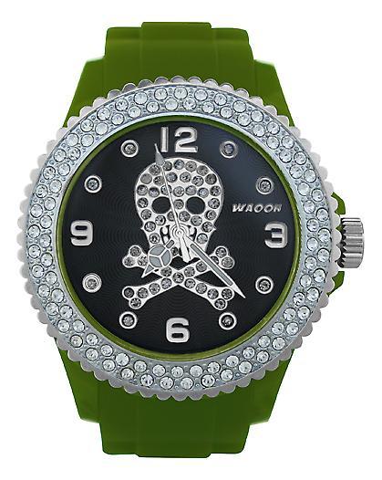 Waooh - FC38 Watch Dial with Rhinestone Death Head