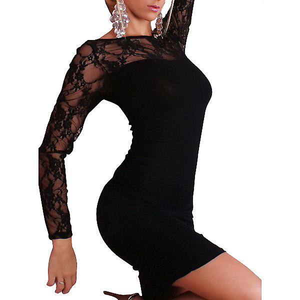 Waooh 69 - Mini Dress Clubwear Black Lace With Missy