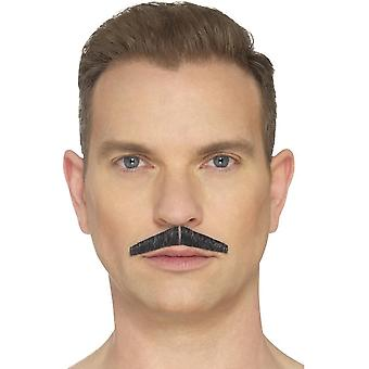 The Pencil Moustache, Black, Hand Knotted