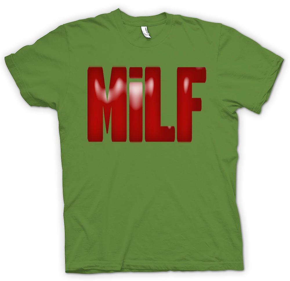 Mens t-skjorte-MILF - Funny - Yummy Mummy