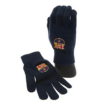 FC Barcelona Official Adults Unisex Knitted Gloves