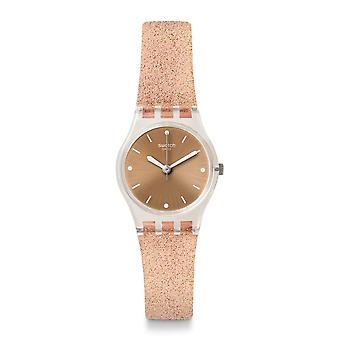 Swatch Lk354d Pinkindescent Too Silicone Watch