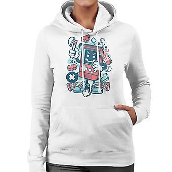 Bad Gamer Cartoon Character Women's Hooded Sweatshirt