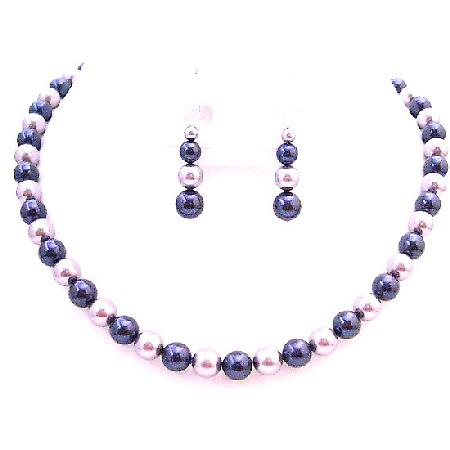 Find The Perfect Lapis & Wisteria Pearls Most Eye Catching Jewelry Set