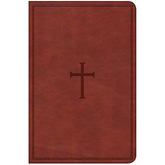 CSB Compact Ultrathin Reference Bible, Brown Leathertouch