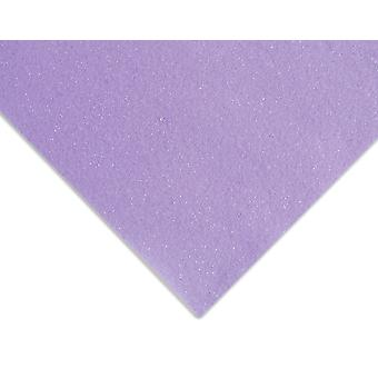 Lavender Lightly Glittered A4 Acrylic Craft Felt Sheet