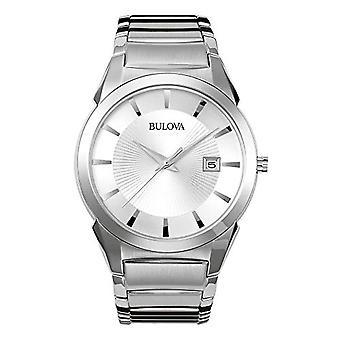 Bulova Mens Quartz Analog Watch with stainless steel band 96B015