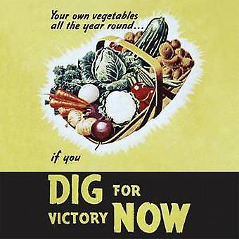 Dig For Victory (veg) drinks mat / coaster