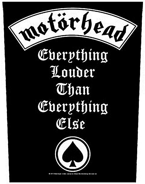 Motorhead Everything Louder.. large sew-on back patch  (mm)